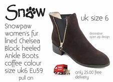 Snowpaw Ladies Quality Ankle Fur Lined Boot Size6 New Boxed Only 25.00 Free Post