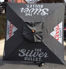 Coors Light Beer Umbrella Pool Beach Patio Bar Pub Man Cave 7' Tall New In Box!