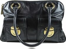 Marc Jacobs MJ Stam Handbag Satchel Bag black 100% Auth From JAPAN