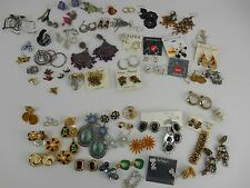 Lot of 60 pairs of earrings, JudyLee Trifari SaraCov Vogue OLD NEW PLUS EXTRAs