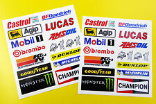 Motorbike Fairing Bellypan Helmet Toolbox Sponsor Stickers decals full set of 34