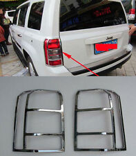 Chrome Rear Tail Light Lamp Cover Trim for 2012-2015 Jeep Patriot new ABS