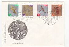 Poland 1964 Olympic Games Cacheted Ua Tokyo FDC