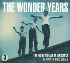 THE WONDER YEARS - THE END OF THE AGE OF INNOCENCE 60 ROCK'N'ROLL GREATS-NEW 3CD