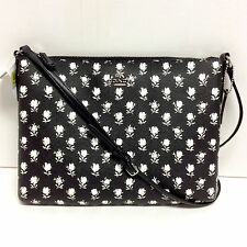 Coach 35453 Floral Americana Crossbody Tablet Black & White Badlands NWT