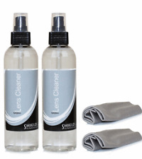 Optical Lens Cleaner 2 x 236ml Bottles + 2 Microfibre Cloths - Cleans Glassess