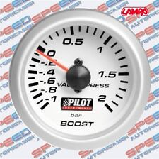 MANOMETRO PRESSIONE TURBO BLUE LIGHT D. 2 52 MM COD 10001 BAR BOOST LAMPA PILOT