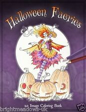 Halloween Fairies Adult Colouring Book Fairy Fantasy Costume Amy Brown Fae Land