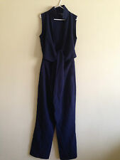 ASOS WRAP FRONT JUMPSUIT WITH TIE(NAVY)  RRP £50.00