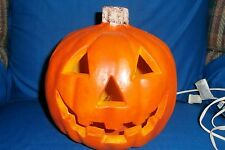 Foam Halloween Pumpkin Jack-O'-Lantern Blowmold Indoor Electric Lighted