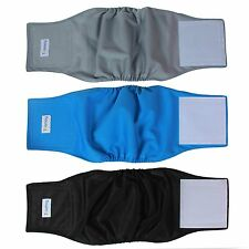 Teamoy Resuable Wrap Diapers for Male Dogs, Washable Puppy Belly Band Pack of 3