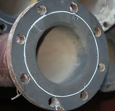 """6m length of 150mm 6"""" Inch flanged rubber lined abrasive slurry service pipe"""