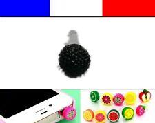 Cache anti-poussière jack universel iphone capuchon bouchon Boule strass 6