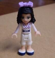 Lego Friends Figur - Emma im Karate Anzug Uniform - Figuren Mädchen weiss Neu