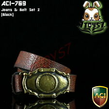 ACI Toys 1/6 Moda 709_ Brown Belt w/ Golden Metal Buckle _may have defect AT037G