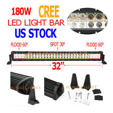 """32inch 180W CREE LED WORK LIGHT BAR FLOOD SPOT Combo OFFROAD TRUCK LAMP 4WD 30"""""""
