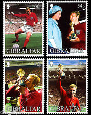 Bobby Moore World Cup 1966 set of 4 stamps mnh 2002 Gibraltar