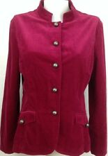 Women's Jacket Shirt COLDWATER CREEK Wine (Pirate Costume) Corduroy Size 14 ~