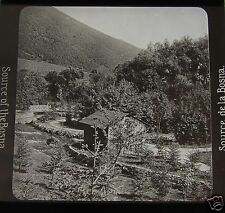 Glass Magic lantern slide SOURCE OF THE BOSNA RIVER  C1910 BOSNIA & HERZEGOVINA