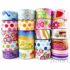 """20 Yards Assorted Cartoon Grosgrain Ribbon Lot 20 Styles 1""""25mm Craft Packing"""