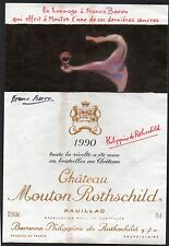 PAUILLAC 1ER GCC ETIQUETTE CHATEAU MOUTON ROTHSCHILD 1990 DECOREE  §04/12/16§