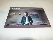GERARD MANSET - Petite Publicité de magazine / Advert MATRICE 2 !!!