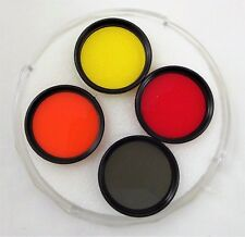 Sigma 30.5 Filter Set R60 Red Y52 Yellow O56 Orange and ND4X Green w/Case
