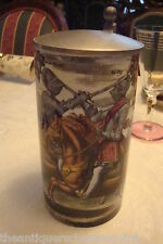 German? beer covered stein dueling knights, decorations are French