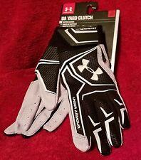 Under Armour Clutch Flex Under Pressure Bat Gloves Mens - Black/White Sz. Large