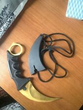 CSGO Counter Strike Karambit Knife Fixed Blade Knife tactical survival camping