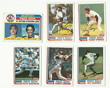 VINTAGE 1982 TOPPS BASEBALL CARDS – BOSTON RED SOX – MLB