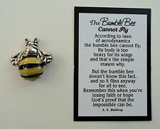 s BumbleBee cannot fly POCKET TOKEN CHARM impossible is possible figurine bee