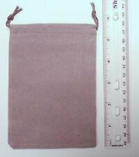Chessex Dice: Velour Cloth Dice Bag Small 4 x 6 GRAY Holds 20-30 Dice CHX 02371