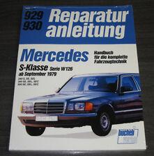 Reparaturanleitung Mercedes S-Klasse W 126 280 380 500 S SE SEL SEC ab 1979 NEU!