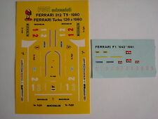 F1 DECALS KIT FERRARI 126 C TURBO 1980 GP ITALIA FDS AUTOMODELLI DECAL