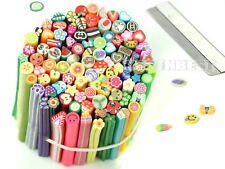 100pcs DIY 3D Nail Art Flower Fruit Fimo Canes Rods Sticks Sticker Decoration Wi