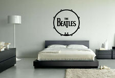 THE Beatles Tamburo MUSICA POP Wall Art Vinile Decalcomania Adesivo Rimovibile ufficiose