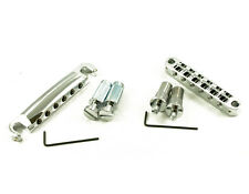 Tone Pros LPCM02/CH T3BT T1Z Bridge Tailpiece Set Metric 6mm Chrome