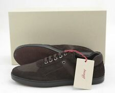 Mens BRIONI Brown Suede Leather Lizard Skin Sneakers Shoes 9 1/2 D 42.5 NIB