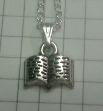 "TIBETAN SILVER PENDANT ""OPEN BOOK"" ON 18"" or20""NECKLACE CHAIN"