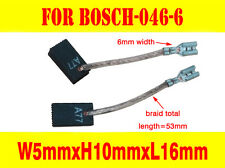 Carbon Brushes For Bosch Grinder 4mm connector GWS 6-125 5 inch disk angle 046