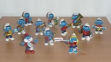 SCHTROUMPF: SET 2002 MUSICIENS - la FANFARE 12 figurines (Smurf Pitufo Schlumpf)