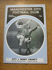 22/04/1972 Manchester City v Derby County  (Marked On front)