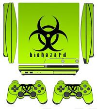 Biohazard 253 Skin Sticker Cover PS3 PlayStation 3 Slim and 2 controller skins