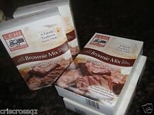 4 boxes * DOUBLE FUDGE BROWNIE MIX * Wheat Flour (no white) * 5 g sugar * 0% Fat