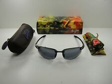 MAUI JIM HOOKIPA READER POLARIZED G807-0225 SUNGLASSES GLOSS BLACK/GREY 2.5X