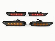 DEPO 2010-2015 CHEVY CAMARO SMOKE FRONT AMBER + REAR RED LED SIDE MARKER LIGHTS