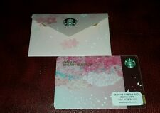 KOREA Starbucks card CHERRY BLOSSOM 2015 with matching sleeve