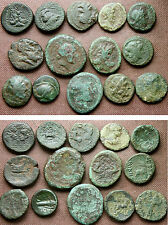 14 ANCIENT GREEK AE COINS incl Thessalonika