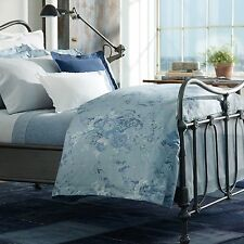 Ralph Lauren Indigo Montauk Blue Floral 3 PC King Comforter Pillow Shams Set